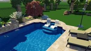 Gothic Pool Shape by Pool Town