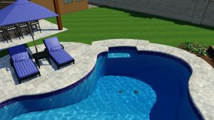 Natural Spring Pool Shape by Pool Town