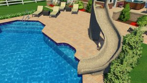 Grecian Lazy Ell Pool Shape by Pool Town